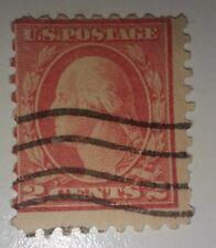 #527 1914 2c Carmine Washington US Postage Stamp type V with inperfection