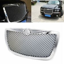 For 2005-2010 Chrysler 300 300C Front Bumper Mesh Hood Grill Grille Chrome Style