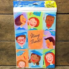 20 Thank You Notes Wit Hallmark 5Gks4016 Graduation Thank You Cards Retro Blue
