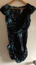 Lipsy Bnwt Uk 8 Chiffon draped Panel mini dress with pockets