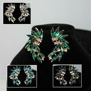 Damen Ohrringe Kristall Strass Gold NEU