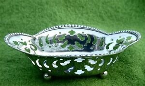 EARLY c20th PIERCED STERLING SILVER NUT / CANDY DISH BY TIFFANY & Co. 0.92 ozt