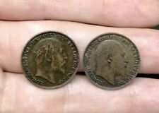 Great Britain Lot Of 2 Farthing Coins 1905 1907 King Edward VII Good Coins