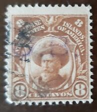 Philippines stamp hand stamped , O.B. on 8 centavos used never hinged,