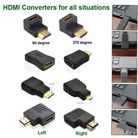HDMI Male to Female Cable Extension Adapter Converter Mini Micro HDMI Connector