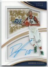 2017-18 Immaculate Collection Shadowbox Signatures Derrick Favors Auto 16/99