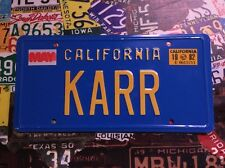 KARR Replica Movie American Licence Plate