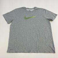 Nike Tee Dri-Fit Shirt Men's 2XL XXL Short Sleeve Gray Crew Neck Athletic Cut