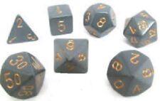 Chessex dice poliédricas 7 Die Set-Gris Opaco/cobre-DND-Sin Caja