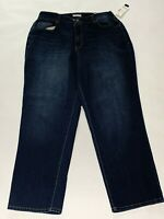 catherines women's right fit blue denim jeans size 16w nwt