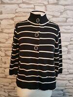 Marks & Spencer Black & White Cardigan Size 12 uk big buttons m&s