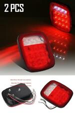 Jeep Wrangler JK LED Tail Lights Brake Turn Signal Rear Pair CJ7 CJ8 TJ LJ YJ