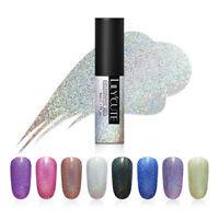 LILYCUTE 5ml Holographic Nail Gel Polish Laser Glitter Soak Off UV Gel Varnish