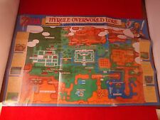 The Legend of Zelda A Link to Past Super Nintendo SNES Map Poster Insert #B1