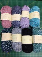 3 x 50g Sirdar Soukie Sequin D/K Wool/Yarn for Knitting/Crochet