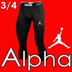 LIMITED JORDAN 23 ALPHA DRI-FIT 3/4 TRAINING TIGHTS JUMPMAN BASKETBALL BLACK XL