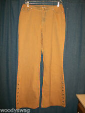 Newport News Jeanology Jeans NOS Mustard Blue Wash Size 10 100% Cotton
