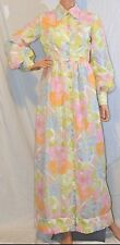 BETTY CAROL for CHRISTOPHER JONES Dress SIZE 13 Pastel Prairie-Style Button VTG