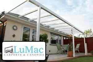 GLASS Clear Garden Room patio canopy cover lean to awning garden pergola seating