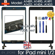 Black For iPad mini 1 2 Retina Screen Touch Digitizer Replacement Home Button IC
