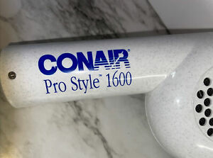 Vintage Conair Pro Style 1600 Hair Blow Dryer Model 087D Works Great!!