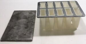 Vintage Popsicle Mold 10 Cell Ice Cream Fruit Pop  A5