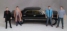 SDCC NYCC Supernatural Impala 1:18 Die Cast Sam Dean Crowley Castiel Figures LE