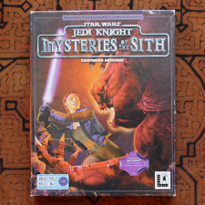 "Star Wars JEDI KNIGHT ""MYSTERIES OF THE SITH"" (PC) BOX & Complete - RARE ADD-ON"