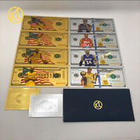 8pc Los Angeles Lakers KOBE BRYANT USA Collectible Cards Gold/silver banknote