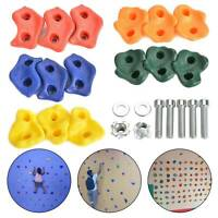 15x Kids Climbing Stones Rocks Bolt On Climbing Frame Wall Hold Grab Stone Grip
