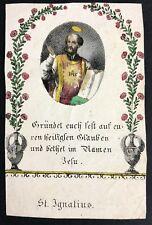 Ignatius de Loyola peregrinaje muy vieja andachtsbild santos imagen (o-4951