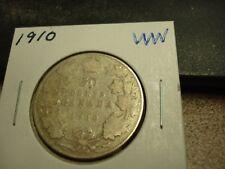 1910 - Canada - silver 50 cent coin - Canadian half dollar