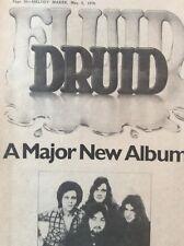 H1j Ephemera 1976 Music Advert Druid Fluid