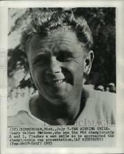 1953 Press Photo Golfer Walter Burkemo, PGA champion, Birmingham, Michigan