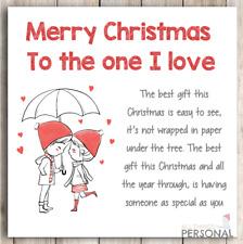 Christmas Card For Husband Boyfriend Girlfriend Wife Parter Love Lover Romantic