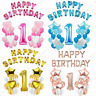 1st Birthday Number 1 Boy Girl Filled Balloons Baby Party Decoration Ballons UK