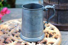 """Vintage Antique Thomas E Williams England Pewter Tankard Beer Stein 5 1/8"""" Tall"""