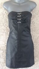 "Women's C. LUCE Black ""Faux Leather"" Dress Size S NWT"