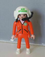 PLAYMOBIL (Y3207) HOPITAL - Femme Pilote Hélicoptère de Secours 3845