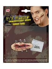 Latexapplikation Wunde mit Sicherheitsnadel Halloween