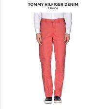Tommy HILFIGER alla Moda Uomo Gallone bruciato ruggine Chinos
