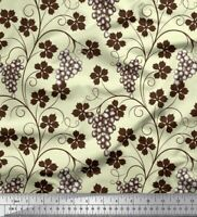 Soimoi Fabric Leaves /& Orange Fruits Print Fabric by the Yard FT-634C