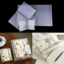 PP Cover for Notebook File Folder6Holes Ring Binders SpiralsA4 A5 A7RefillaUULK