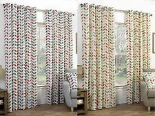 Abstract Cotton Blend Curtains & Pelmets