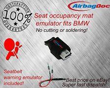 Airbag passenger seat occupancy mat sensor bypass fits BMW  and belt simulator