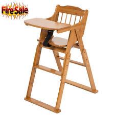 Hot Baby High Chair Bamboo Stool Infant Feeding Children Toddler Restaurant Sl 00004000