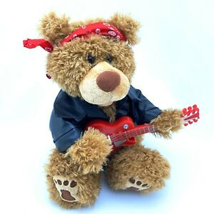 RARE First & Main Donovan TEDDY BEAR w/ Guitar | Sings: Do Wah Diddy | See Video