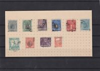 peru early stamps on piece ref 10953
