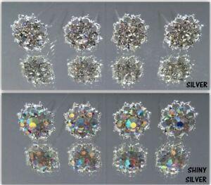 8 High Quality Bridal Wedding Prom Crystal Diamante Hair Pins Slides Clips Grips