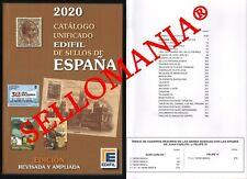 CATALOGO EDIFIL 2020 SELLOS DE ESPAÑA SPAIN STAMPS CATALOGUE  ULTIMO A LA VENTA